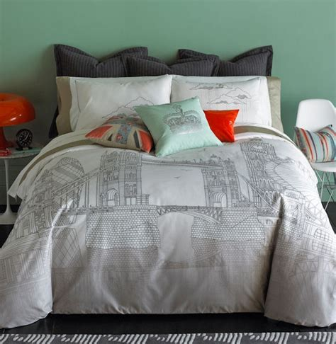 london bedding tips to decorate bedding with london theme
