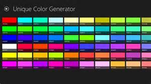 color set unique color generator