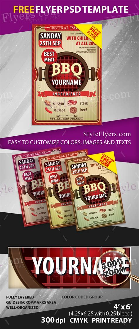 Bbq Free Psd Flyer Template Free Download 11289 Styleflyers Free Caign Flyer Template