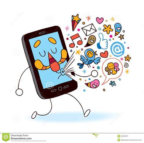 clipart cellulare telefono cellulare fumetto illustrazione vettoriale