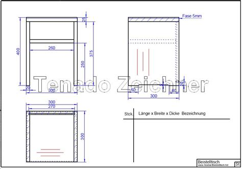 technische zeichnung bett moebel