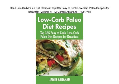 Pdf Primal Blueprint Easy Meals by Read Low Carb Paleo Diet Recipes Top 365 Easy To Cook Low