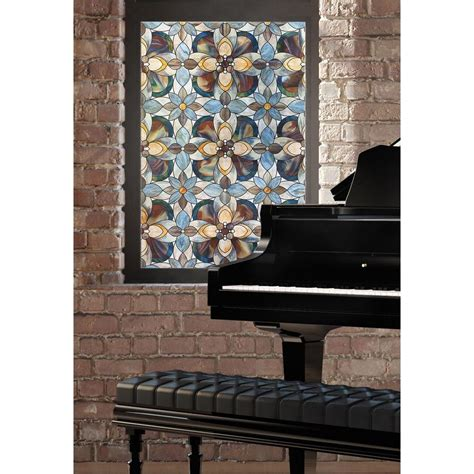 decorative windows for homes artscape 24 in x 36 in quatrefoil decorative window film