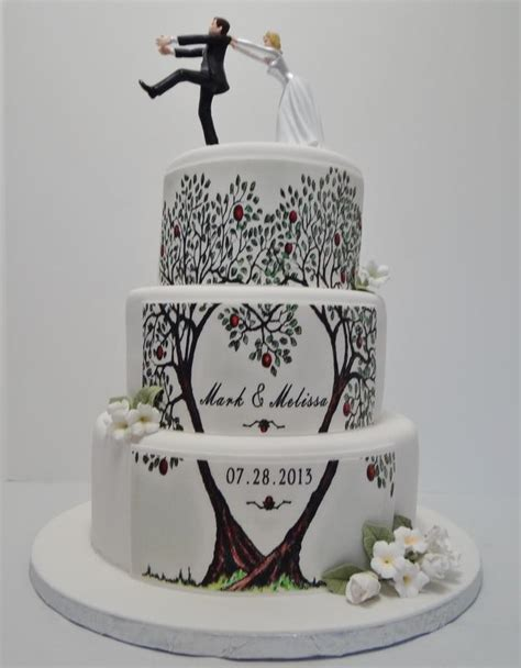 pattern wedding cake