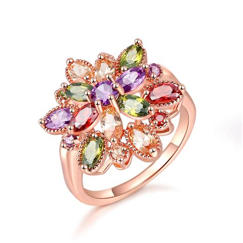 color ring new image multi color ring luxury cubic zirconia wedding