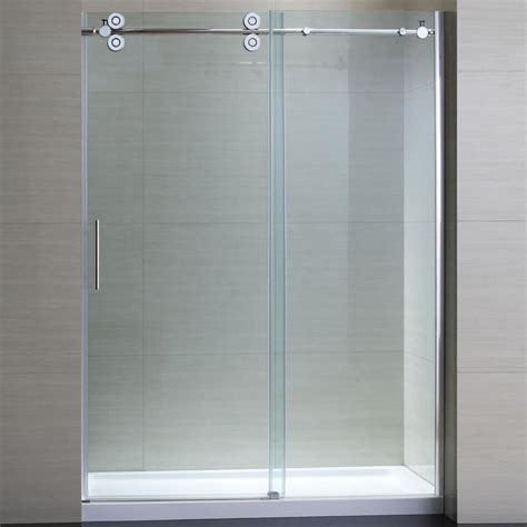 Sliding Glass Shower Doors With Frameless Design Lgilab Bathroom Glass Sliding Shower Doors