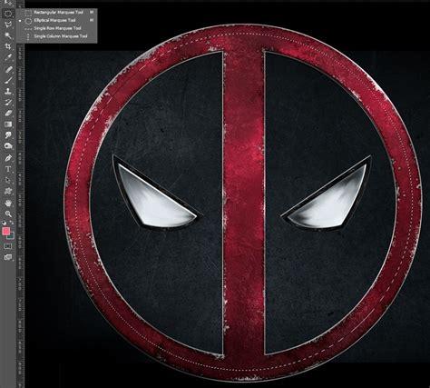 photoshop tutorial round logo deadpool logo movie poster photoshop tutorial icanbecreative