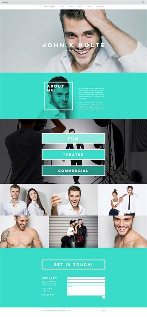 589 Best Images About Wix Website Templates On Pinterest Actor Website Templates Free