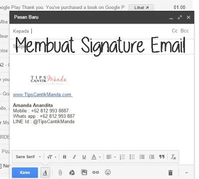 membuat signature html tips cantik by amanda an indonesian beauty blogger