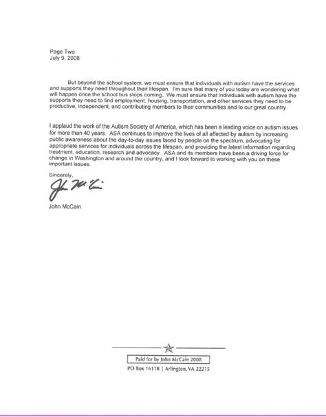Patient Contact Letter Template Obama And Mccain Non Responses To Vaccine Safety Requests