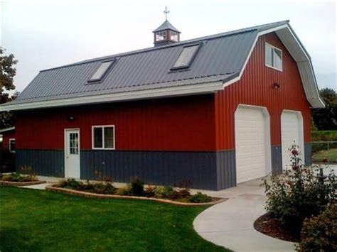 Barn Like Sheds by Large Classic Gambrel Barn Style Garage Class Metal
