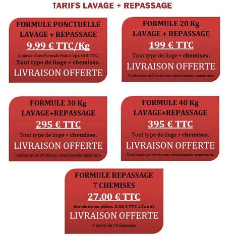 Prix Lavage Couette Au Pressing by Tarif Lavage Repassage Draps Conception Carte
