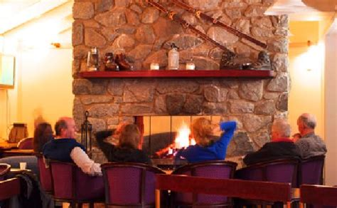 relax around the fireplace picture of snowy gums chalet