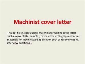 machinist cover letter machinist cover letter