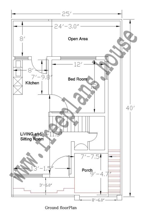 25 square meters to feet 25x40 feet ground floor plan plans pinterest house