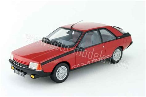 renault fuego black renault fuego turbo phase 2 1983 red ottomobile diecast