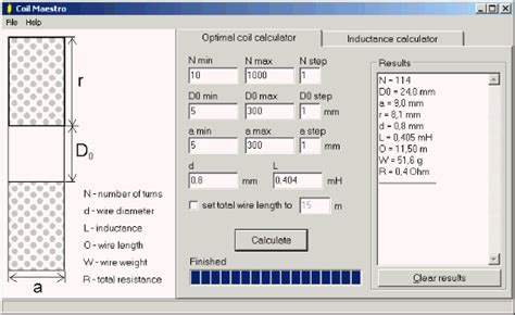 inductance calculator excel coil maestro freeware coil solenoid calculator