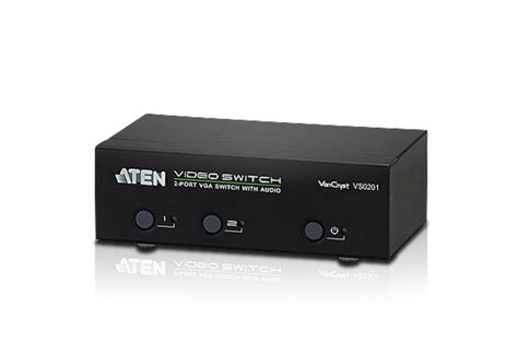 Switch Vga Aten 2 port vga audio switch vs0201 aten switches