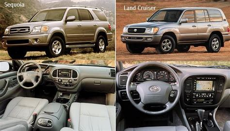 Toyota Sequoia Vs Toyota Land Cruiser Cars Toyota Sequoia