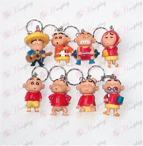 Sinchan Doll eight crayon shin chan accessories doll keychain
