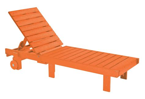 generations orange chaise lounge  wheels  cr plastic   coleman furniture