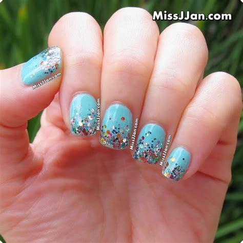 easy nail art glitter missjjan s beauty blog tutorial super easy glitter