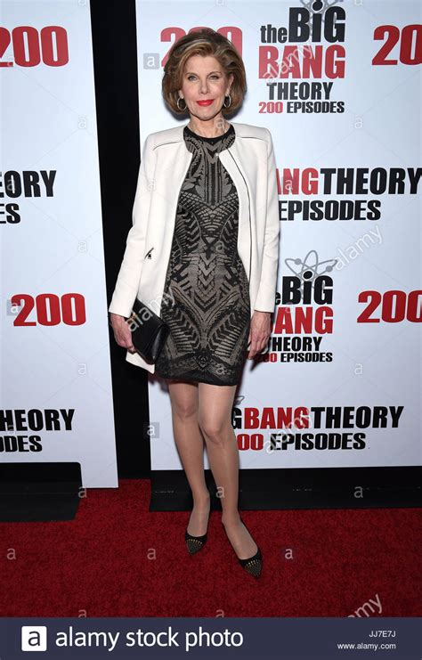 bang a old lady christine baranski arriving to quot the big bang theory