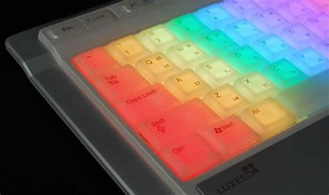 Luxeed Keyboard Lights Up Your by Colorful Led Keyboard