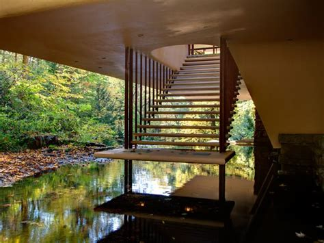 falling water interior fallingwater kaufman residence 1936 9 bear run creek