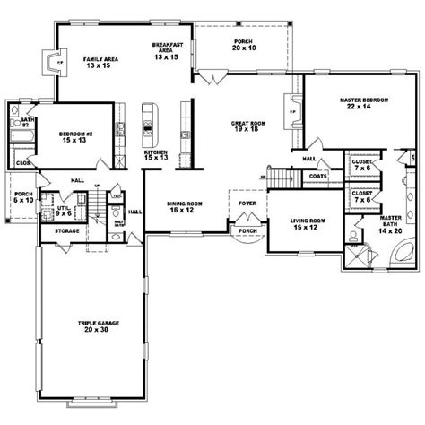 5 bedroom floor plans 1 story 653923 1 5 story 4 bedroom 3 5 bath country