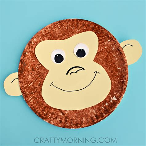 Paper Plate Monkey Craft - paper plate monkey craft idea crafty morning