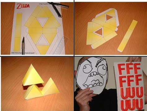 Triforce Papercraft - newfags can t triforce your meme