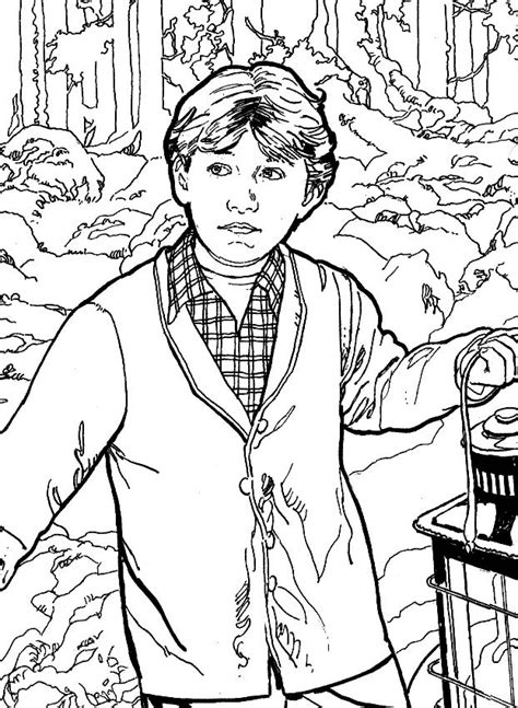 harry potter coloring pages ron 1000 images about coloring pages lineart harry potter on