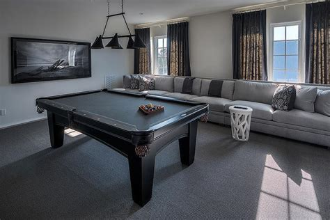 Sofa Pool Table Gray Sofa With Black Ikat Pillows Cottage