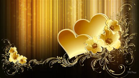 gold love themes gold wallpaper 1920x1080 35484