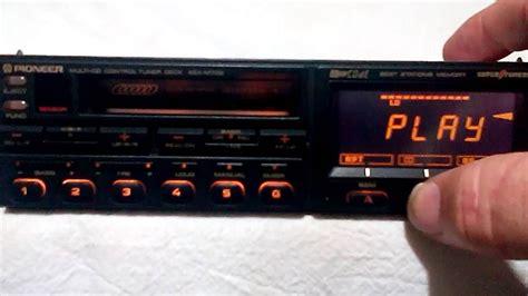 cassette car stereo vintage pioneer kex m700 am fm cassette car stereo