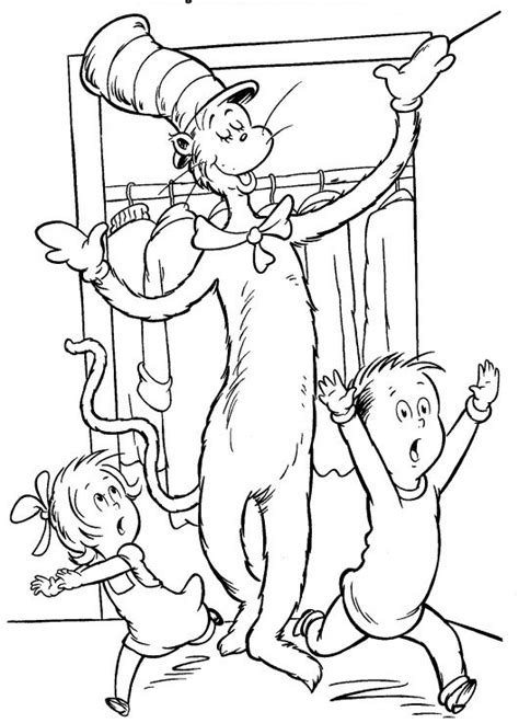 cat in the hat coloring pages free printable dr suess cat in the hat coloring page