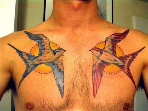 swallow chest tattoo designs 50 beautiful tattoos on chest