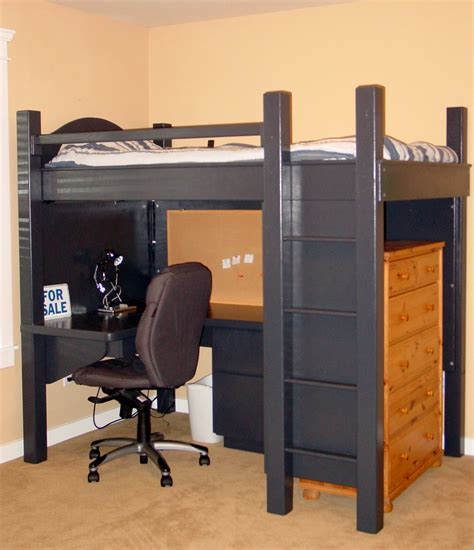 desk with bed black loft bed with desk style meets function homesfeed