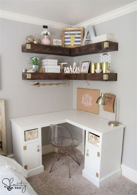 make corner desk diy corner desk shanty 2 chic