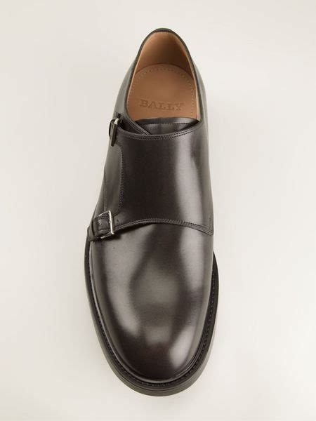 bally buckle shoe in black for lyst