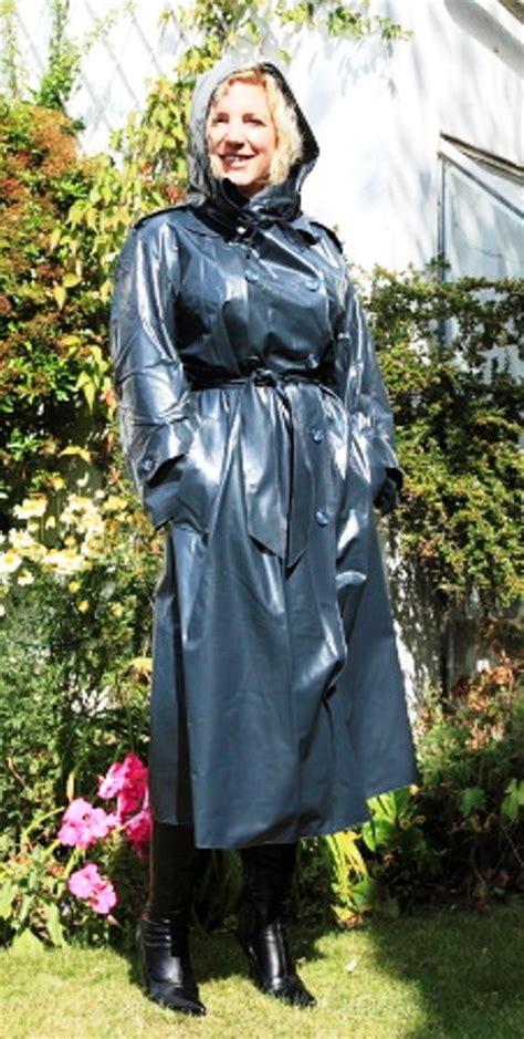 lade in pvc vintage shiny raincoat raincoat pvc raincoat