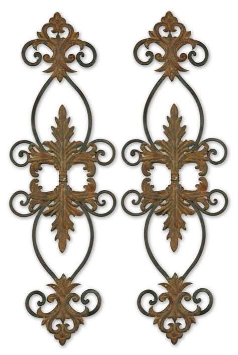 uttermost 13387 lacole rustic metal wall set 2 140 80