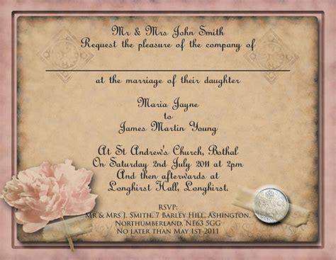 vintage wedding invitation wording exles 26 vintage wedding invitation templates free sle exle format free