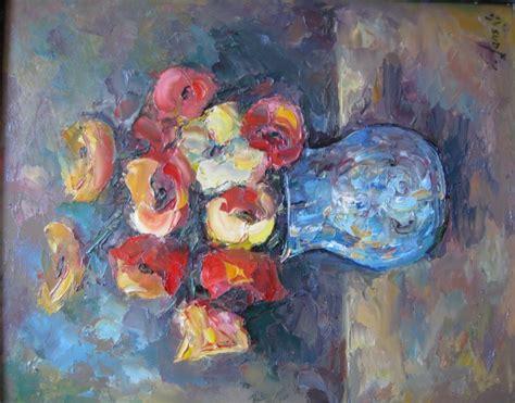 vase mit blumen bild malerei stillleben blumen valeri lanski waldt