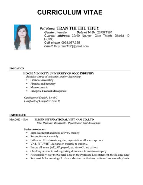 Resume Cv Name Cv