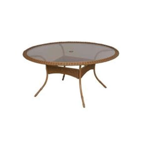 60 Patio Table Hton Bay Clairborne 60 In Patio Dining Table