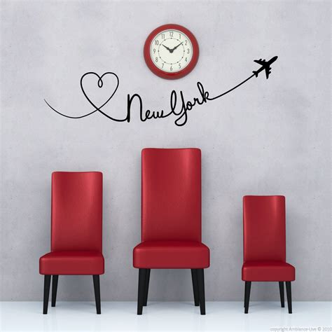 Glow In The Wallsticker City city wall decals wall decal plane trace new york