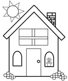 simple house coloring pages for kids c2v printable