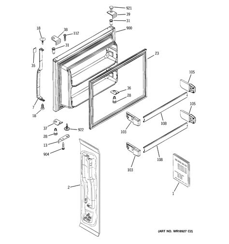 hotpoint refrigerator p series freezer section parts